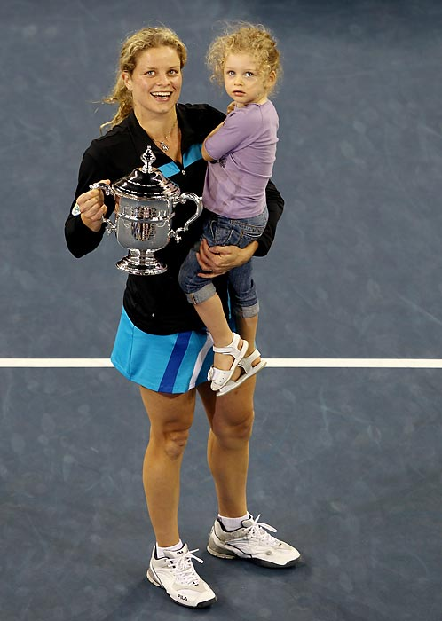 Jada could get used to seeing mommy with U.S. Open trophies.