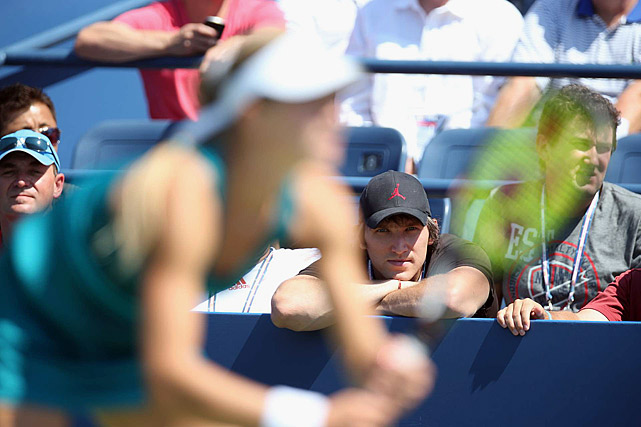 Alexander Ovechkin of the Washington Capitals watches the match between Maria Kirilenko and Greta Arn.