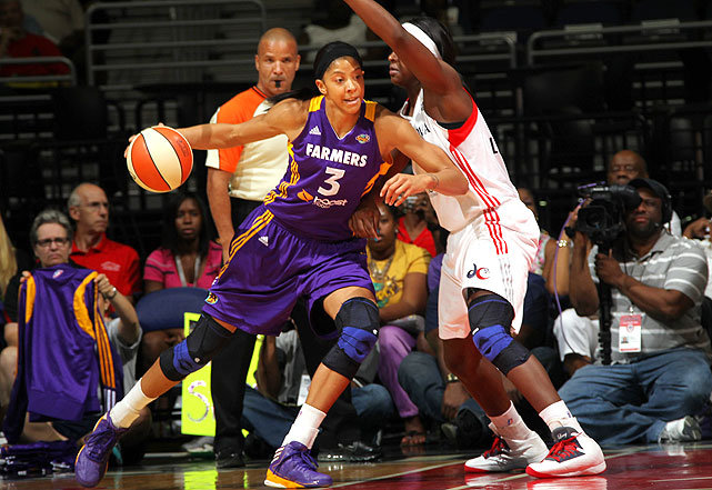 The Sparks star finished second in the MVP voting behind Charles after averaging 17.4 points, 9.7 rebounds and 2.3 blocks in 33 games. She dropped 25 points in a Game 1 win over the Silver Stars on Sept. 27.