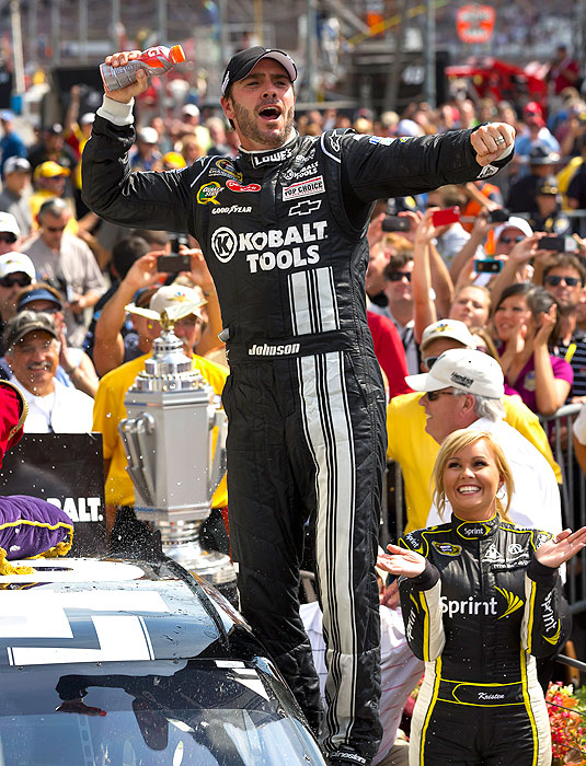 The five-time champion, who has appeared in every Chase since its inception in 2004, won at Darlington, Dover and Indianapolis this year. He had his lowest finish in NASCAR's playoff last season when he finished in sixth.