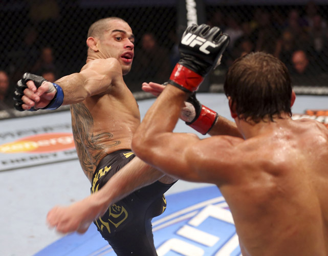 With Dominick Cruz injured, Renan Barao took down Urijah Faber by unanimous decision at UFC 149 to win the UFC's interim bantamweight championship. Barao and Cruz are slated to fight for the undisputed bantamweight title, but no date has been determined.