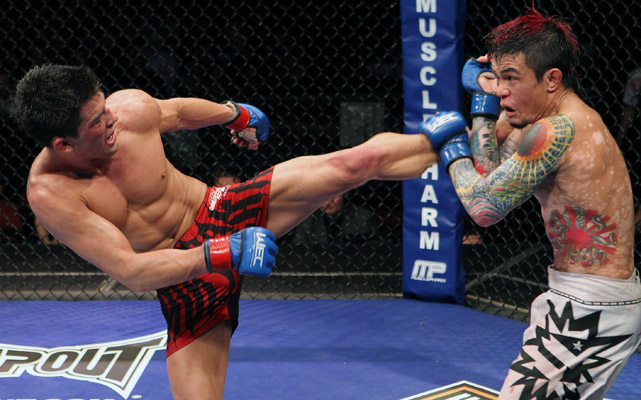 Dominick Cruz beat Scott Jorgenson at WEC 53 to win WEC bantamweight tile along with the inaugural UFC bantamweight belt. Seven months later, Cruz defended his title against Urijah Faber at UFC 132 and later beat Demetrious Johnson at UFC on Versus 6 in his second title defense.