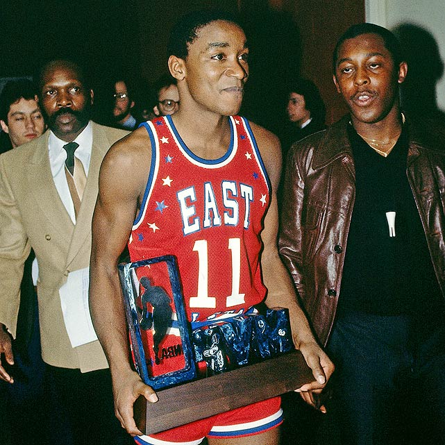 Thomas made the All-Star team as a second-year player in 1982, his first of 12 straight selections. During the East's 154-145 victory in the '84 All-Star Game Thomas won his first All-Star Game MVP.