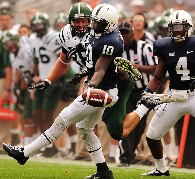 Penn State safety Malcolm Willis tips an errant pass during the Nittany Lions' 24-14 loss to Ohio.