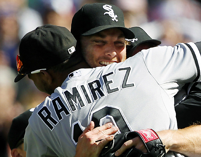 Philip Humber threw the first perfect game in almost two years, striking out nine for his first win of the season. It was the third perfecto in White Sox history, joining Mark Buehrle (Tampa Bay in 2009) and Charles Robertson (Detroit in 1922). Humber, a former first-round draft pick of the Mets who underwent Tommy John surgery in 2005, needed only 96 pitches to complete the gem. The White Sox beat the Mariners 4-0.
