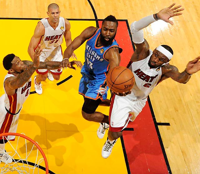 Harden, the reigning Sixth Man of the Year, is a sensational weapon off the bench for the Thunder. But with $56.9 million already committed to just four players in 2014-15, Oklahoma City has a tough financial decision to make. For what it's worth,  Kendrick Perkins thinks Harden will re-sign  with the reigning Western Conference champs.