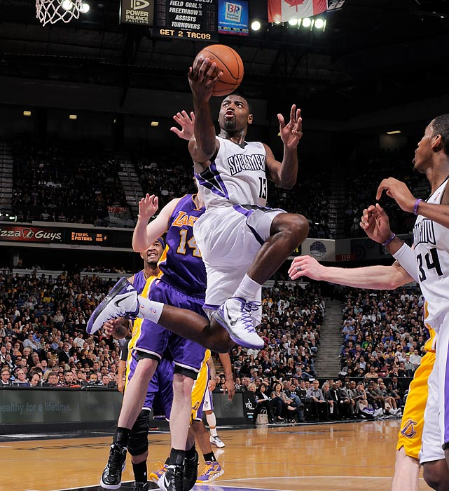 Evans, the 2009-10 NBA Rookie of the Year, tantalizes with his potential, but the fact remains: his skills have declined every season since that campaign. The 22-year-old excels with the ball in his hands, making him a bad fit on a Kings team that seems to add a new ball handler every offseason. Once considered a franchise cornerstone, Evans could find himself in a new home next summer.