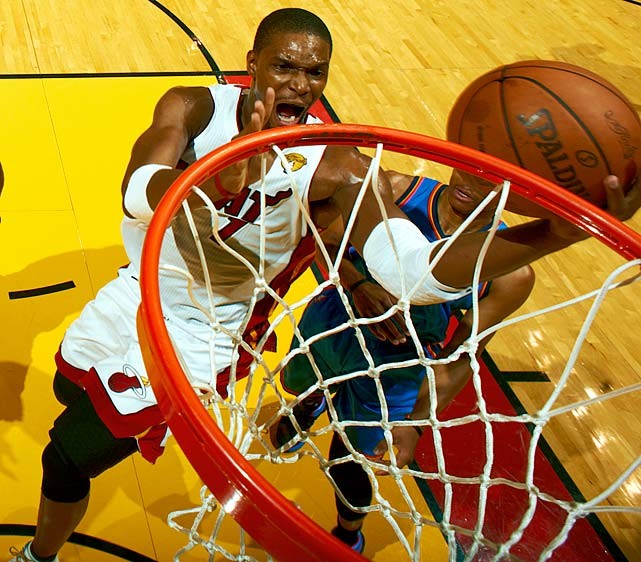 "Bosh thought his days at center were over, but he was wrong. Miami asked Bosh to play down low extensively during its title run, and he said he expects to open the season as the starting 5. ""When I signed in Miami, I said, 'That's it. No more 5!' Next thing I know, I'm there again,"" Bosh said. He added weight in the offseason in anticipation of the move, and it'll be interesting to see if the extra weight has robbed him of any quickness and explosiveness."