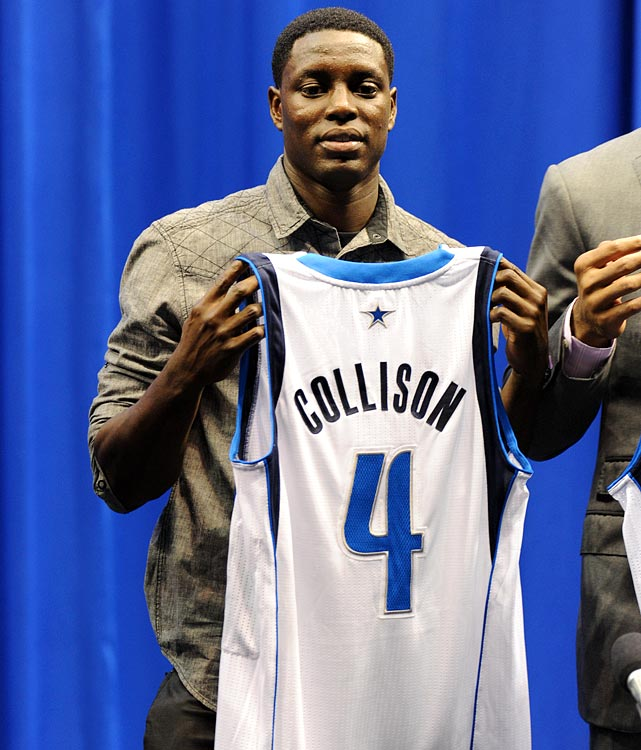 Collison's stats have steadily declined since his rookie season, and this year he moves to Dallas, his third team in four NBA seasons. A willing passer, Collison will have to learn a new system under Rick Carlisle, and that education will start during training camp.
