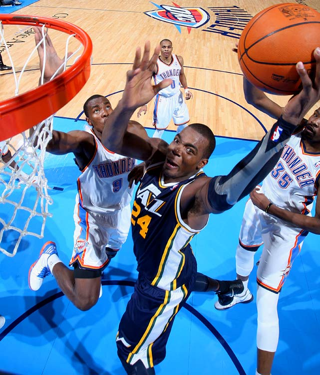 The Jazz are loaded at forward. Millsap started in the frontcourt alongside Al Jefferson last season, but he'll be pushed in training camp by Derrick Favors, Marvin Williams and to a lesser extent Jeremy Evans. If any of them can outplay Millsap during camp, the Jazz may be inclined to deal the impending free agent.