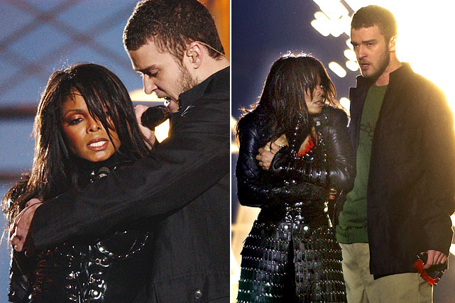 "The MTV-produced halftime show at Super Bowl XXXVIII gave 140 million viewers a fleeting mammary, courtesy of Janet Jackson and Justin Timberlake that generated 500,000 complaints from the public. Federal Communications Commission chief Michael Powell and the White House were compelled to speak about the outrage while NFL Commissioner Paul Tagliabue declared, ""The show was offensive, inappropriate and embarrassing to us and our fans."" The FCC slammed CBS to the tune of a record $550,000 in fines and the NFL rolled out older, less daring fare at the next two Super Bowls: Paul McCartney (2005) and the Rolling Stones ('06)."