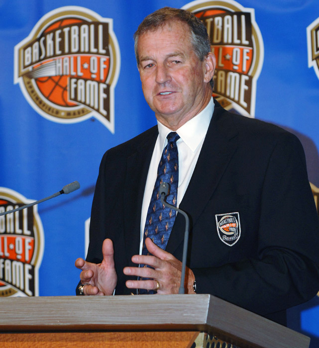 Calhoun was inducted into the Basketball Hall of Fame in 2005 and the College Basketball Hall of Fame the next year.