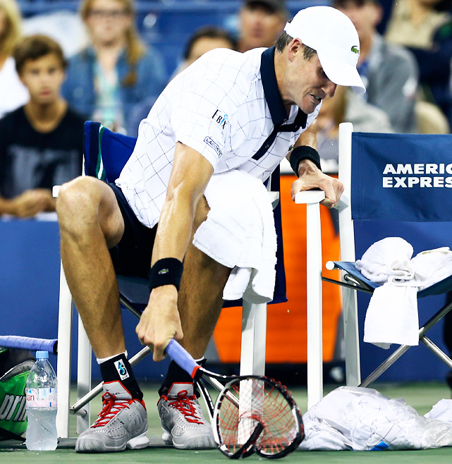 The highest-ranked American was bounced in the third round by Philipp Kohlschreiber in five sets, making it the fourth Slam of the year where Isner has departed in a full five-set match. Against Kohlschreiber, Isner unraveled in the fifth set after being called for a foot fault, causing him to lash out at the chair ump, smash his racket on a changeover and eventually get slapped with a point penalty. It wraps up a disappointing Slam season for the big-serving American, having failed to make it past the third round in any of the majors.