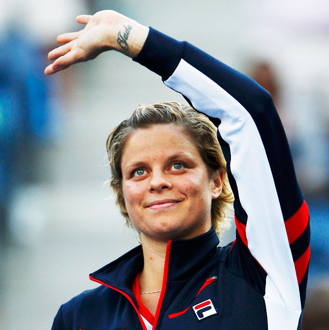 In May, Clijsters announced the U.S. Open would be her final tournament. She entered all three events, losing to Laura Robson in the second round in singles, falling with partner Kristen Flipkens in the first round of doubles and teaming up with Bob Bryan for a second-round showing in mixed. Clijsters ends her career with three titles at the U.S. Open (2005, '09, '10) and a fourth major title at the 2011 Australian Open.