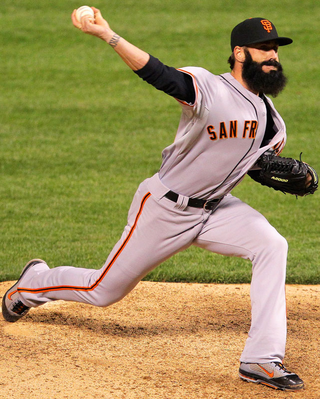 In only his second outing of 2012, closer Brian Wilson appeared hurt after throwing a pitch against the Rockies. He finished the game and picked up the save, but a week later he underwent Tommy John surgery, ending his season.