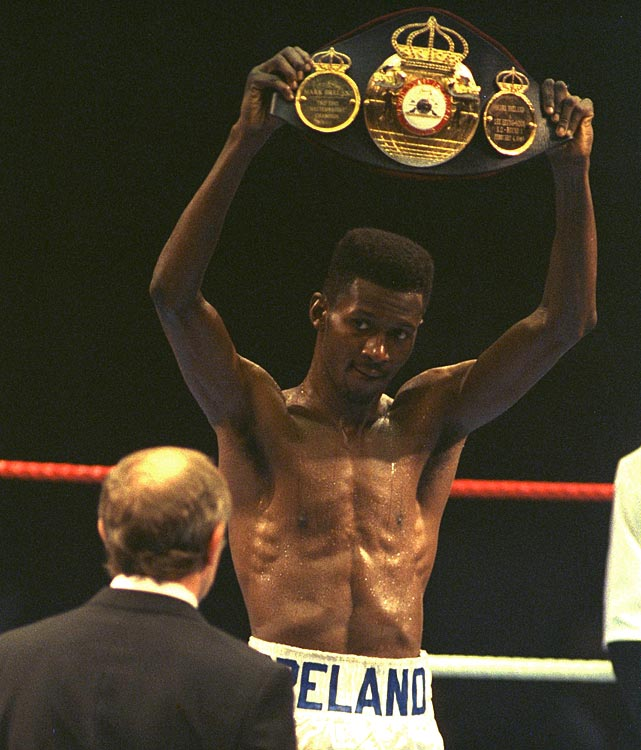 Breland won the gold medal at welterweight at the 1984 Olympic Games.  In 1987, he stopped Harold Volbrecht in seven rounds to win the WBA Welterweight title and regained vacant WBA title in 1989 with a first round knockout of Seung-Soon Lee.