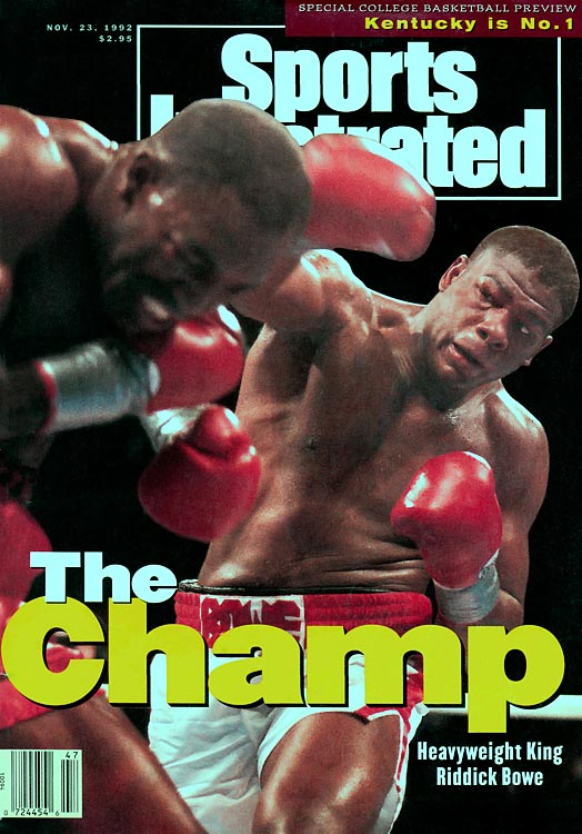 """Big Daddy"" Bowe represented the United States at the 1988 Olympic Games, winning a super heavyweight silver medal.  In 1992, Bowe defeated Evander Holyfield for the undisputed heavyweight crown, holding the title until a rematch with Holyfield the following year.  Bowe would add the WBO Heavyweight title with a 1995 knockout of Herbie Hide and became the first man to stop Holyfield in their third and final fight later that year."