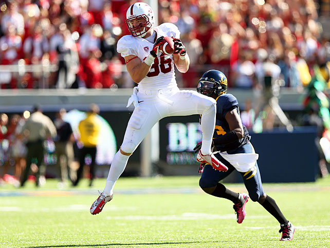Thirty years after the Big Game famously ended with The Play, Stanford left little to chance in this year's matchup. Cardinal quarterback Josh Nunes passed for 214 yards and a touchdown, tailback Stepfan Taylor ran for 189 yards and a score and tight end Zach Ertz (pictured) made six receptions for 134 yards and a touchdown. Stanford's front seven turned in the most impressive stat: Cal finished the game with just three rushing yards.