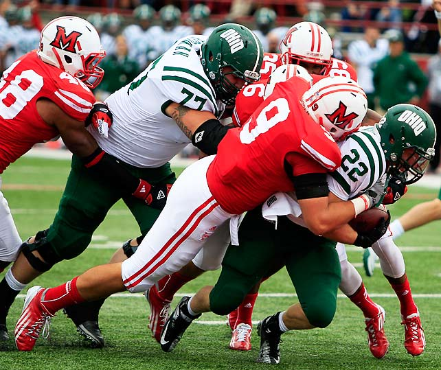 Ohio's dream of an undefeated season culminating in a BCS berth is officially over. After tempting fate with close games in recent weeks, Beau Blankenship (pictured) and the Bobcats finally came up too short. After Ohio elected to skip a field-goal try in favor of one more play, Tyler Tettleton was sacked as time ran out.