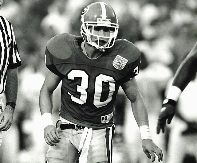 Muschamp played safety for the Georgia Bulldogs from 1991-94.
