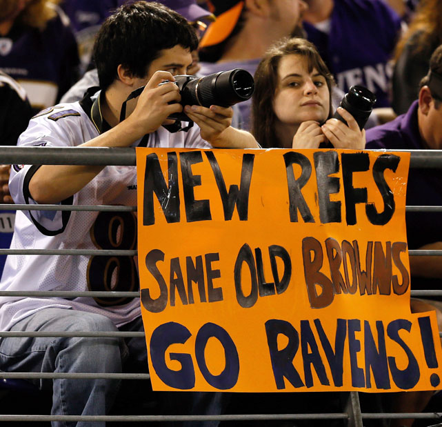 "Ravens fans show their ""respect"" for the Browns."
