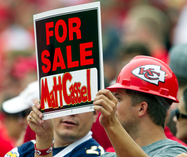 With seven interceptions and just five touchdowns, it's no wonder this Kansas City fan wants to sell Matt Cassel.