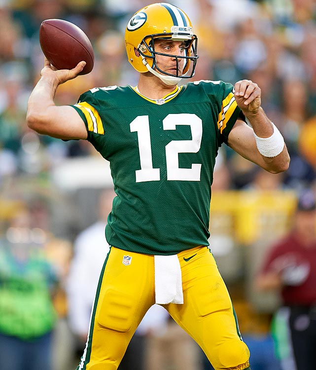 Ranked the No. 11 quarterback on both Yahoo! and NFL.com, Rodgers has been a far cry from the top QB he was drafted to be. But against the Saints last week Rodgers again looked like the MVP, throwing for a season-high 319 yards and four touchdowns while not taking any sacks. Even though the Colts had extra time to prepare for the Packers, they don't have the personnel to slow Rodgers, let alone stop him.
