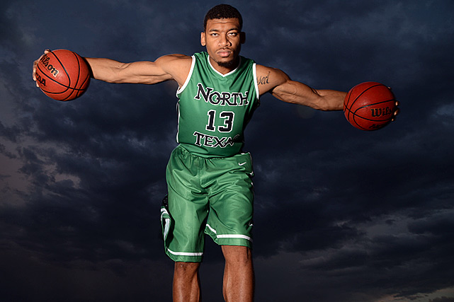 Tony Mitchell uses his 7'3'' wingspan to be a rebounding and shot-blocking force on the court.