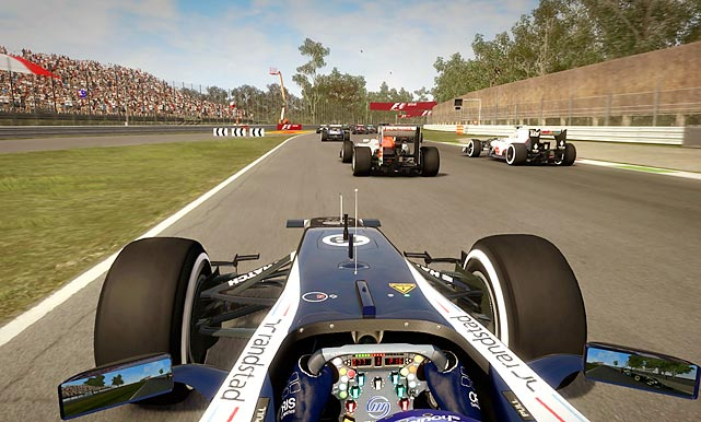 CodeMasters knows how to make a realistic racing game, and F1 2012 is no exception. F1 is a very different animal from more mainstream racers like Forza or NASCAR, and the game's excellent, immersive tutorial does an excellent job of bringing novice players into a world where the ability to nail a turn's apex is often more important than raw speed. The game's primary mode starts players on a team as a rookie. You name your rival and start working your way up through the ranks and looking for opportunities to improve your worldwide standings. Beating your rival -- once you're good enough to do it -- gives you additional credibility, and the steady stream of emails and press clippings tracking your progress is surprisingly fun to monitor. The game looks terrific -- though sometimes a little more plasticky than truly photorealistic -- and the training mode, time-rewind Flashback feature and wide variety of assistive options make the huge challenges marginally easier to face. F1 2012 isn't for everyone, and it's not a vast improvement over last year's game, but the niche it serves is likely to love it.   Score: 9 out of 10