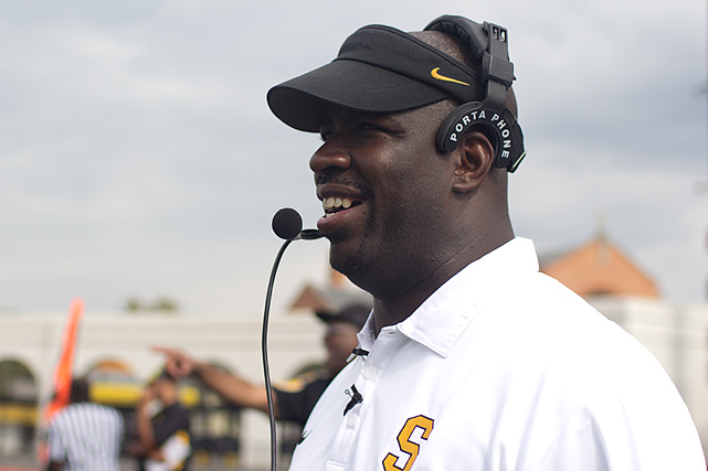 Grant is in his third season at the helm at Shabazz and is looking to return the Bulldogs to the playoffs. The coach has emphasized brotherhood in his quest to build Shabazz into a team of champions and enriched young men. Grant drives several players home from practice every day to make sure they avoid any neighborhood violence.