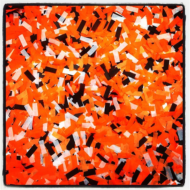 Confetti after the parade.