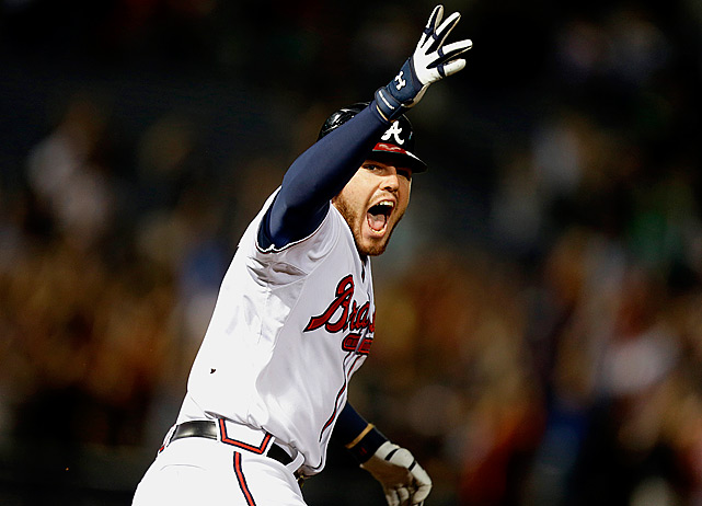 Freddie Freeman clinched a playoff spot in the most exciting way possible when he smashed a come-from-behind two-run home run to defeat Miami and send the Atlanta Braves to the playoffs.