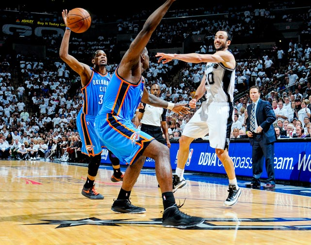 On Nov. 1, Kevin Durant and Co. head to San Antonio for a rematch of the Western Conference finals. The Spurs pushed the Thunder to six games before falling in that series, but an exhilarating Thunder team is now a year older and a year wiser while the Spurs are just another year older. This should serve as an interesting, early glimpse of the pecking order out West.