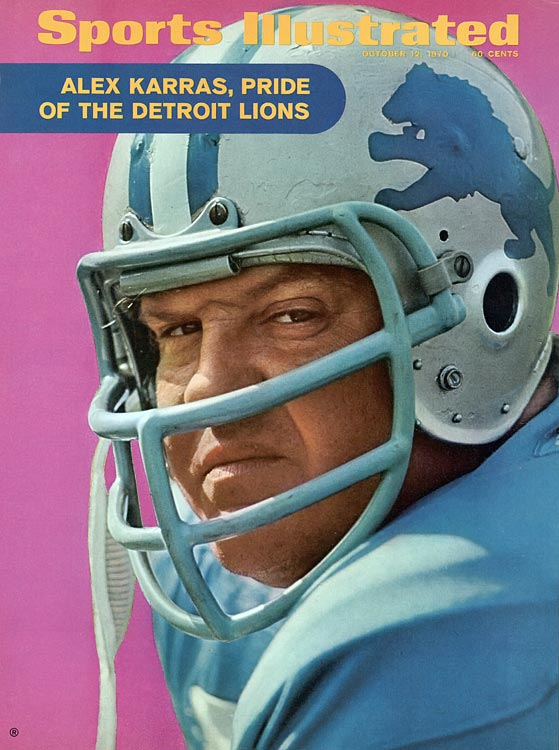 Alex Karras appears on the Oct. 12, 1970 issue of SI.