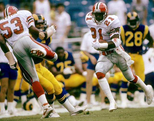 Deion Sanders returns a punt in the same week that he hits a home run in the majors, even though he sat out training camp.