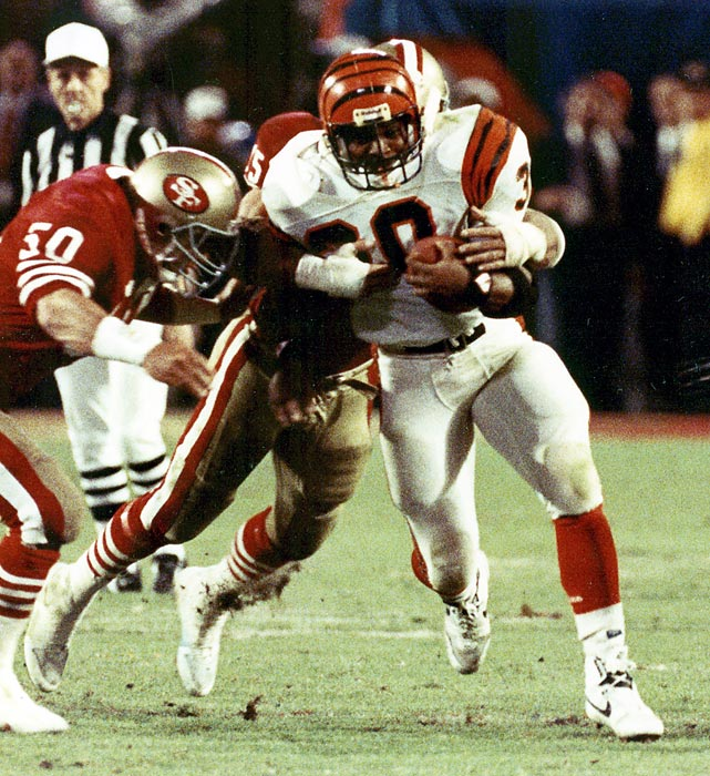 Cincinnati appears in its first ever Super Bowl, against the San Francisco 49ers at the Silverdome in Detroit. The Bengals lost the game 26-21, but set three Super Bowl records: most receptions (11 by receiver Dan Ross), most completions (25 by Ken Anderson) and highest completion percentage (73.5 %).