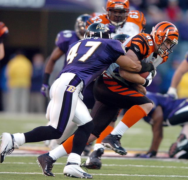 The Bengals take one step closer to a playoff berth by beating the Baltimore Ravens on the road, breaking a 42-game losing streak to winning teams on the road, an NFL record. The Bengals would make the playoffs that season.