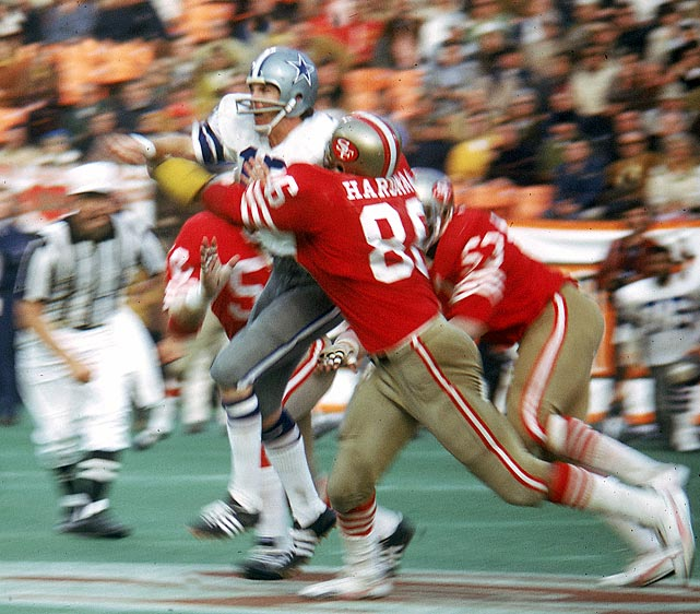 Roger Staubach's reputation as the master of comebacks begins as he comes off the bench to rally Dallas to a 30-28 first-round playoff win over San Francisco. The 49ers led 28-13 entering the final quarter but Staubach replaces starter Craig Morton and throws two TD passes in the final two minutes to culminate an astonishing comeback.