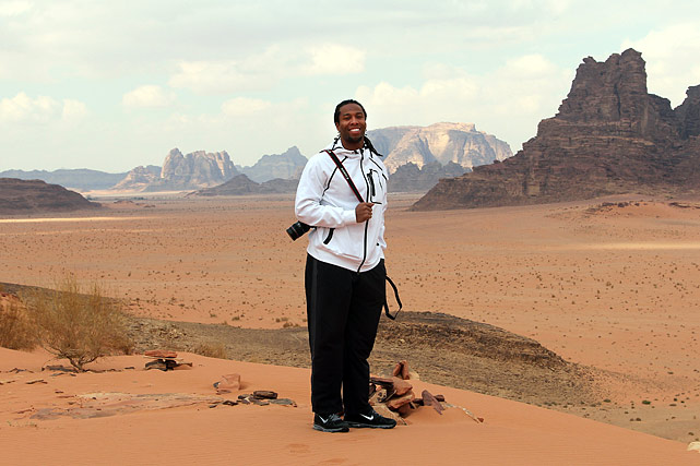 The Wadi Rum desert.