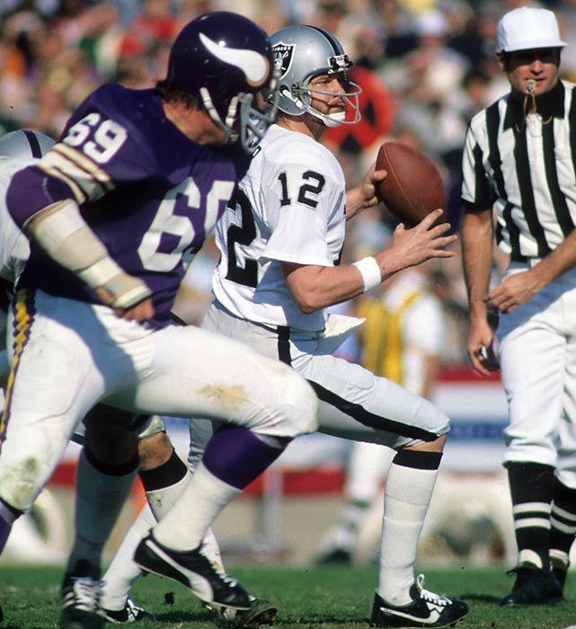 Making the franchise's second championship appearance in Super Bowl XI, the Raiders looked for their first title. Under the guidance of coach John Madden and steady play of quarterback Ken Stabler, Oakland prevented the Vikings from achieving a Super Bowl win in their fourth attempt in eight seasons, prevailing handily, 32-14.