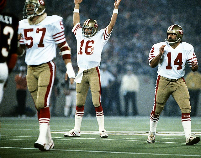 "San Francisco reaffirms its claim as ""Team of the `80s"" with 55-10 destruction of Denver in Super Bowl XXIV as Joe Montana completes 22 of 29 passes for 297 yards and five TDs. It is the 49ers' fourth championship of the decade."