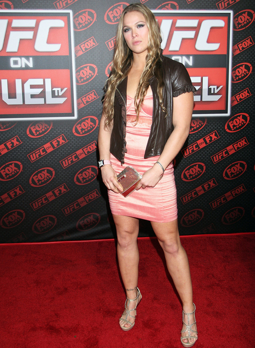 Rousey attends a UFC On FOX event in Anaheim.