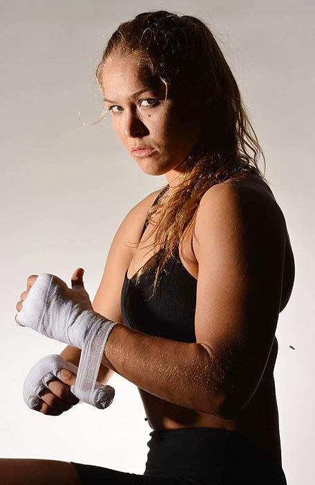 Rousey during a photo shoot with SI in October.
