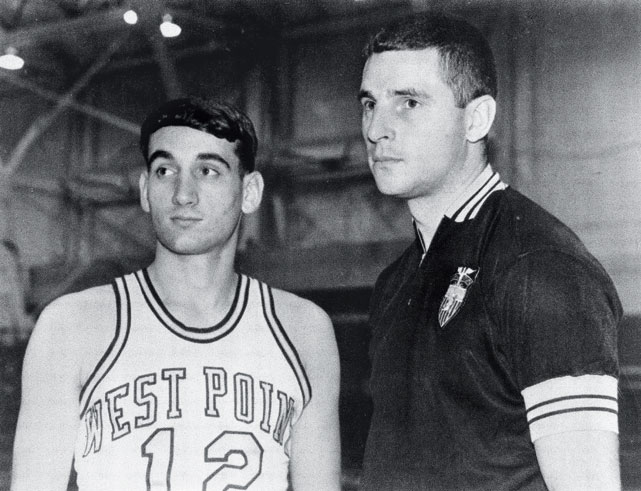 Meanwhile at West Point, a young point guard named Krzyzewski was learning basketball from an up-and-coming coach named Bobby Knight.