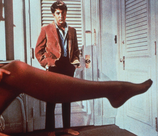 While  Bonanza  ruled the small screen, the biggest movie of 1967 was  The Graduate , starring  Dustin Hoffman and Anne Bancroft. Other notable movies included  Bonnie and Clyde, Cool Hand Luke  and  The Dirty Dozen.