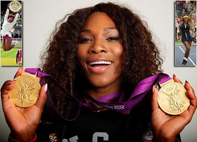 Having struggled in the past with injuries, Serena Williams was on fire in 2012. In addition to a gold medal in the Olympics singles tournament, Williams won the U.S. Open and Wimbledon singles titles -- not to mention her doubles wins at the Olympics and Wimbledon.
