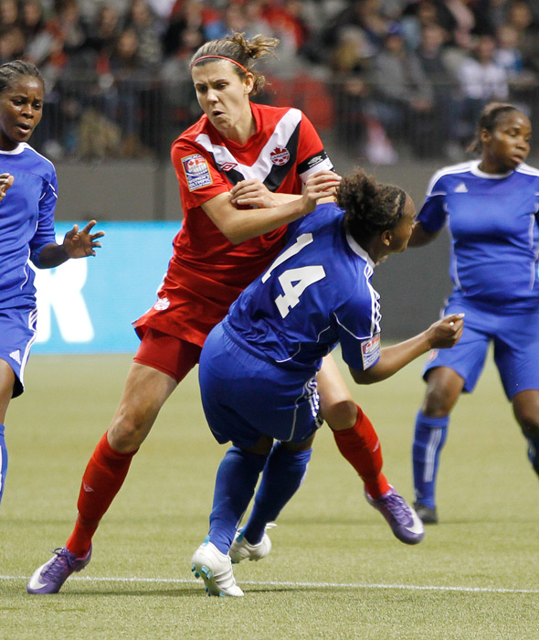 "While it was a memorable 4-3 semifinal victory for the U.S. women's Olympic soccer team, defeated Canadian captain Christine Sinclair claimed that the match was a fraud. Sinclair said that the referee had ""decided the result before the game started"" and, months later, still says that she does not regret making that statement."