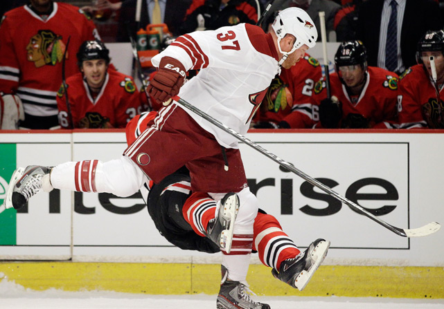 When Raffi Torres received a two-game suspension for throwing his shoulder into Marian Hossa's face, it wasn't just because he had committed interference, charging and an illegal check to the head -- it was also the third time Torres had committed a similarly dangerous foul that season.