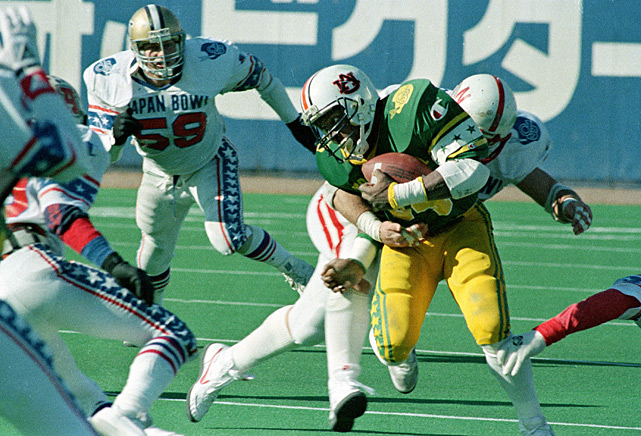 Jackson competes in the 1986 Japan Bowl. Jackson and the East defeated the West 31-14.