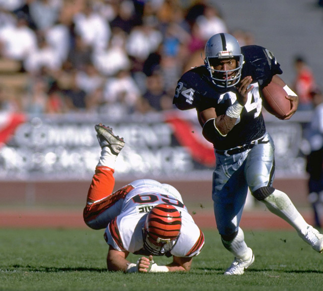 Jackson a tackle during a playoff game against the Bengals. It would be Jackson's final NFL game, as he suffered a career-ending hip injury that day.